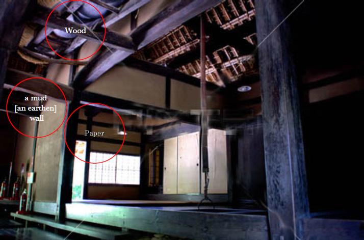 木と土と紙で作られた日本家屋